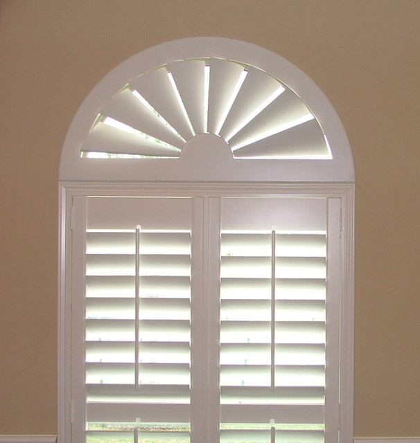 Blinds Com Custom Size Wood Arch Traditional Window