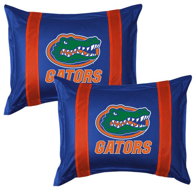 Ncaa Florida Gators Pillow Sham Set College Logo Bedding