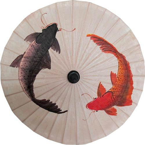 Classic koi fish umbrella asian home decor by for Koi home decor