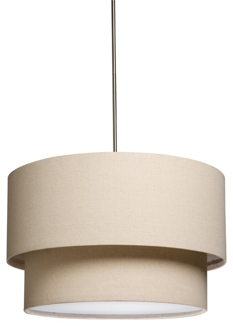 Mercer Street Three Light Round Double Shaded Chandelier Transitional Chandeliers By Elite