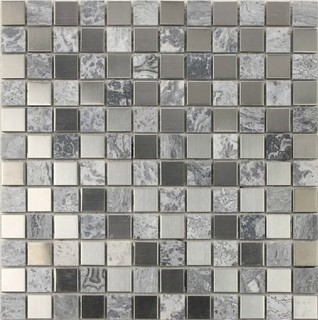 Stainless steel mosaic tiles ssmt059 glass mosaic tile for Dosseret inox autocollant