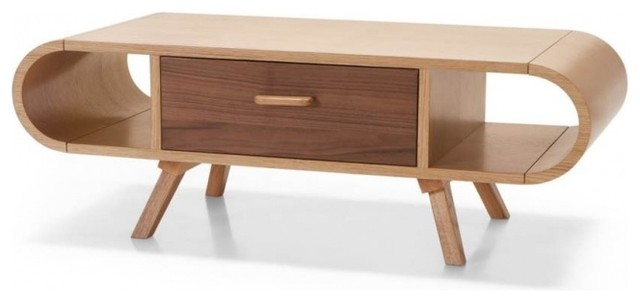 Fonteyn oak and walnut coffee table modern coffee - Table basse gigogne vintage ...