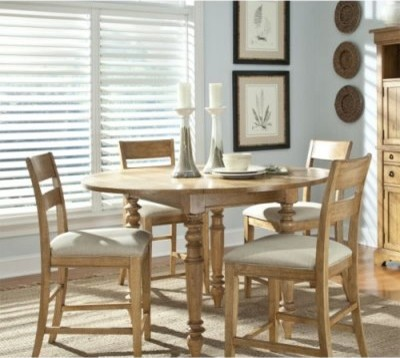 Legacy Pleasant Grove 5 Piece Counter Height Dining Table Set Pine Modern