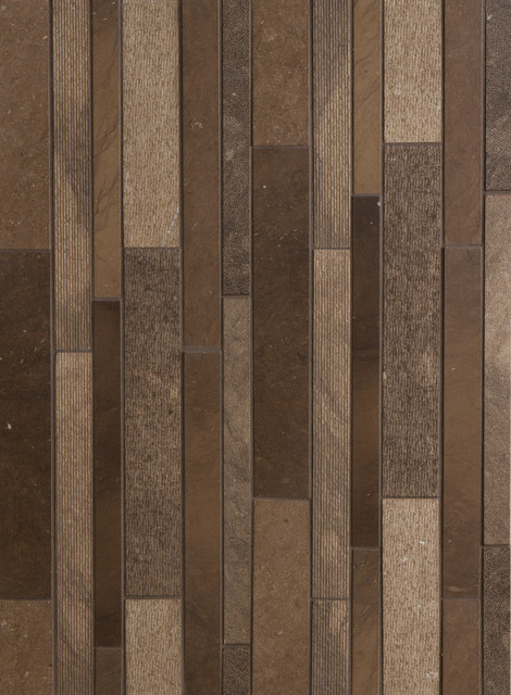 Lucca textured linear mosaic 1 39 39 1 1 4 39 39 and 2 39 39 x 12 39 39 in autumn brown modern wall and - Modern bathroom tile designs and textures ...