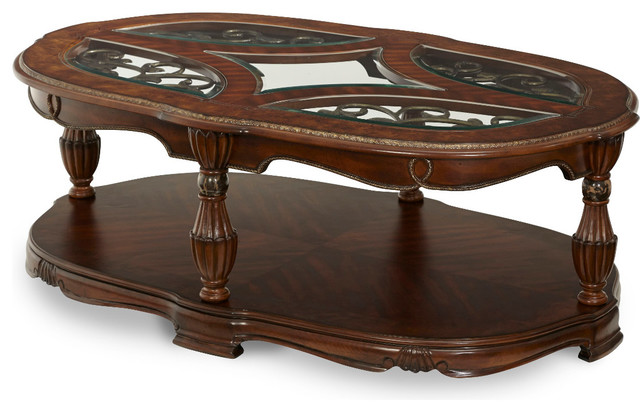 Aico The Sovereign Soft Mink Cocktail Table Traditional Coffee Tables By Quality Furniture