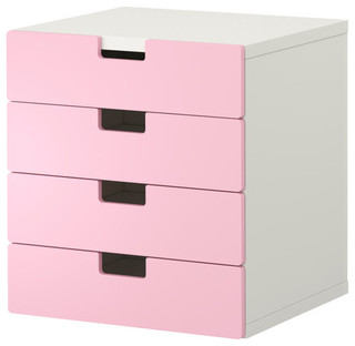 ... With Drawers, White/Pink - Scandinavian - Dressers - by IKEA