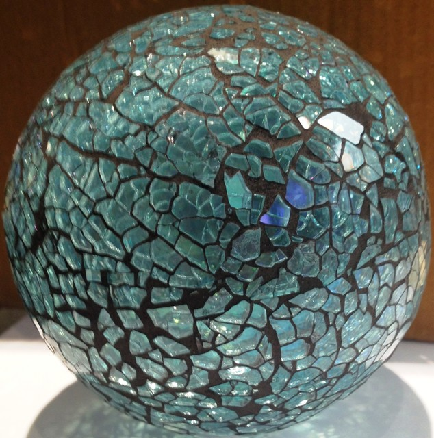 Blue mosaic ball home decor other metro by details