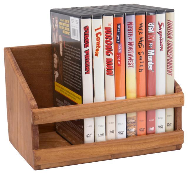 Teak CD/DVD Rack - Rustic - Media Racks And Towers - by SeaTeak