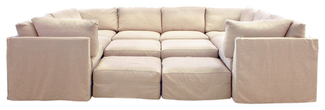 Cobble Hill Union Square Sectional Contemporary
