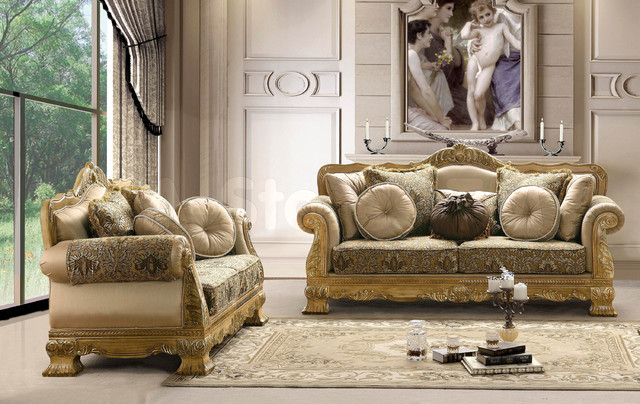 Traditional Upholstered 2 Pc Sofa Set Sofa And Loveseat Traditional Living Room Furniture