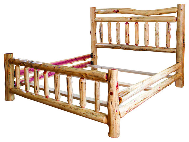 Rustic red cedar log full bed rustic bed frames Adirondack bed frame