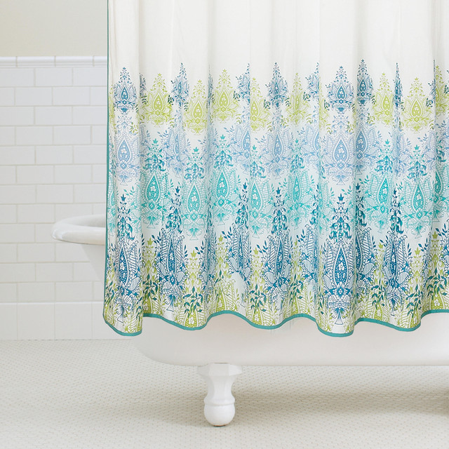 Light  Shower Curtain Green. Yellow And Teal Shower Curtain. Home Design Ideas