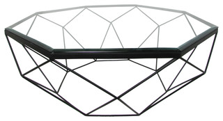 black coffee table transitional - photo #37