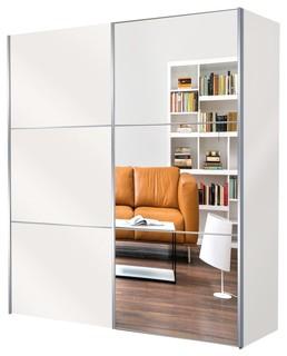 kleiderschrank tajo 200x216 wei spiegel bauhaus look. Black Bedroom Furniture Sets. Home Design Ideas