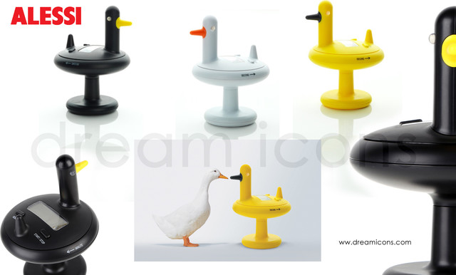 Alessi Electronic Duck Timer At Dream Icons Contemporary Kitchen Timers London By Dream
