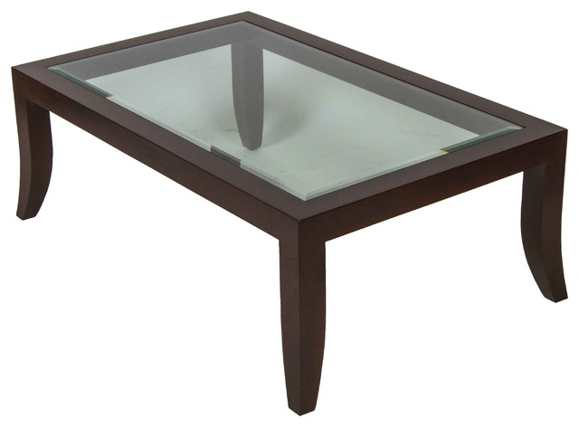 A Rudin Wood And Glass Top Coffee Table Contemporary Coffee Tables New York By D Cor Nyc