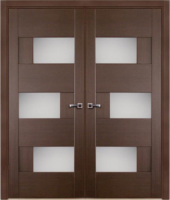 Modern interior doors modern interior doors new york for Double door design catalogue