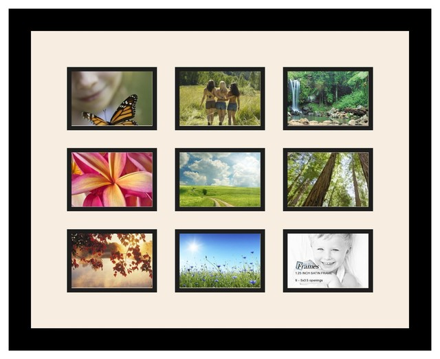 Arttoframes collage photo frame with 9 openings for Modern collage frame