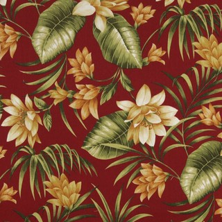 Red Gold And Green Floral Outdoor Indoor Marine Upholstery