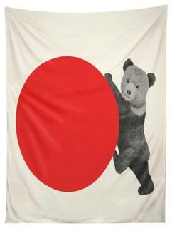 deny designs morgan kendall red bear tapestry modern wandteppiche. Black Bedroom Furniture Sets. Home Design Ideas