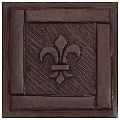 Framed Fleur De Lis Tile Design Traditional Accent