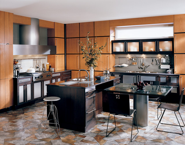 Art Deco Kitchen - Contemporary - by Wood-Mode Fine Custom ...