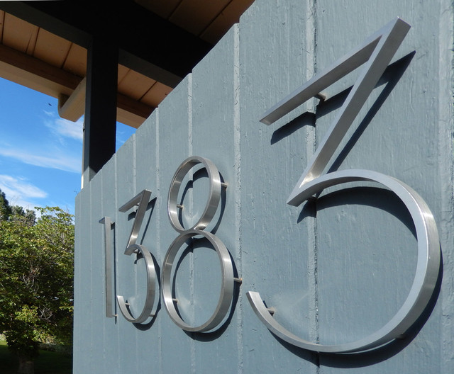 Contemporary House Numbers Uk Modern House Numbers Stainless