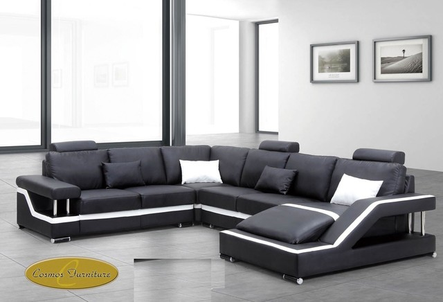 Leather Sectional Sofas Modern Sectional Sofas New York By DealShopperz