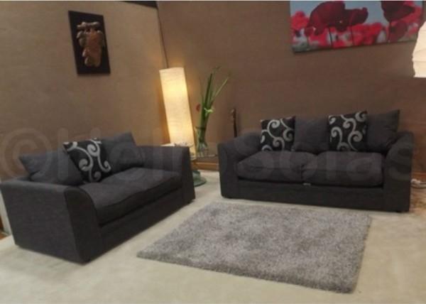 Divine Full Charlie Fabric 3 2 Seater Sofa Modern