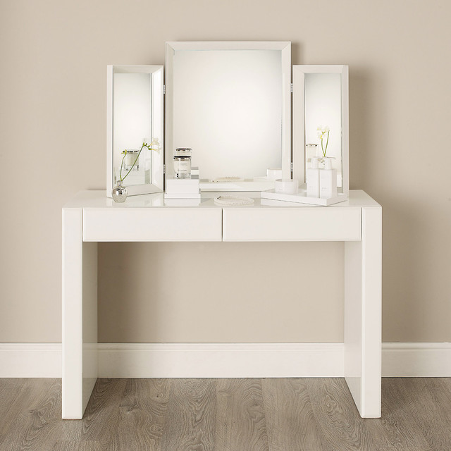 carlton glass dressing table modern frisier schminktische von the white company. Black Bedroom Furniture Sets. Home Design Ideas