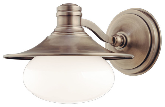 Bathroom Vanity Lights Farmhouse : Hudson Valley Lighting - 6701-AN - Lawton Antique Nickel 1 Light Bath Bracket - Farmhouse ...