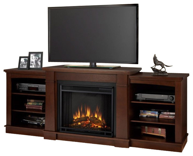 Real Flame Hawthorne Electric Fireplace Tv Stand Traditional Indoor Fireplaces By Cymax