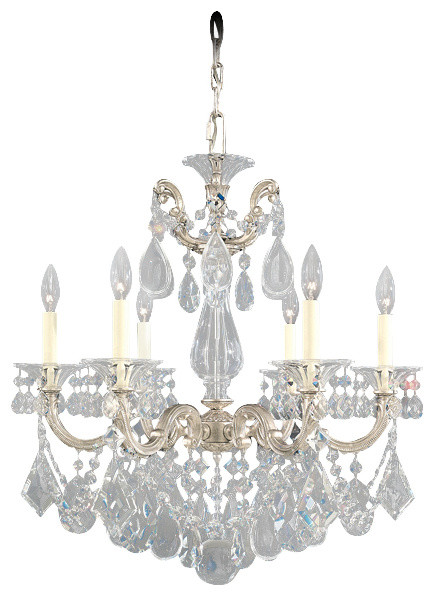 Schonbek Lighting 5072 48h La Scala Antique Silver 6 Light