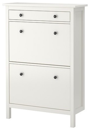 Ikea hemnes shoe cabinet with 2 compartments in white for Ikea hemnes shoe storage