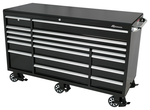 Elite 17-Drawer Roller Cabinet Toolbox - Traditional - Garage And Tool ...