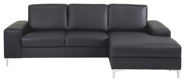 kopenhagen sofa mit longchair rechts in leder bauhaus look sofas von. Black Bedroom Furniture Sets. Home Design Ideas