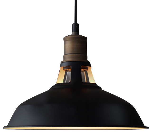 Edison Dome Pendant Light Black