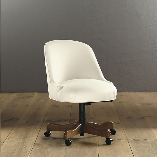 Milan Desk Chair Transitional Office Chairs By Ballard Designs