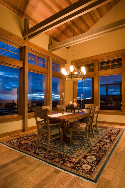mountain mansion traditional dining room portland floating home interiors for west coast living