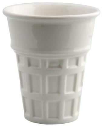 Ice cream cone vanilla contemporary dinnerware by for Fishs eddy dinnerware
