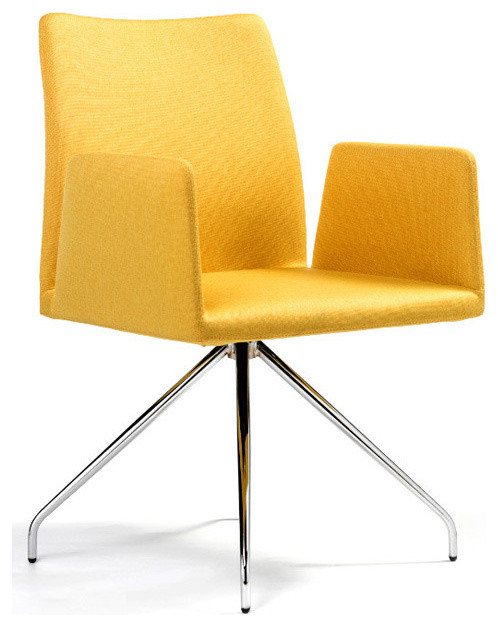 Frame swivel armchair by b t design modern dining for Swivel dining chairs modern