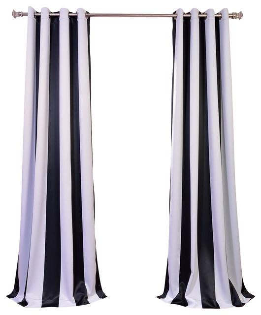 Awning Black & White Stripe - Contemporary - Curtains - by Half Price ...