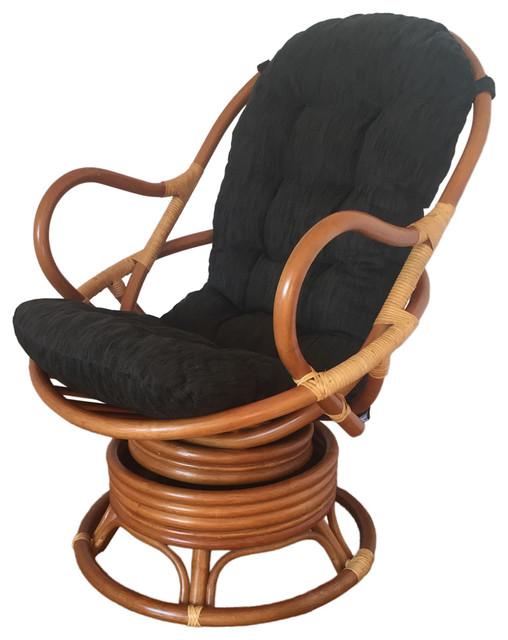 Rattan Swivel Rocking Chair David Tropical Rocking