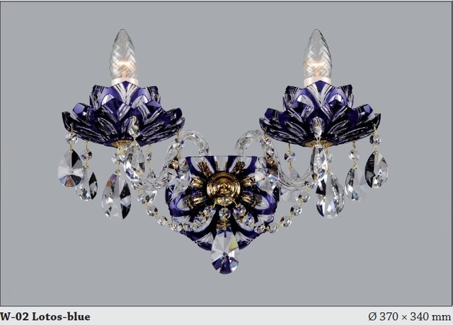 Czech Crystal Wall Lights : Bohemian Czech Crystal flash cut wall sconce in Violet - Modern - Chandeliers - adelaide - by ...