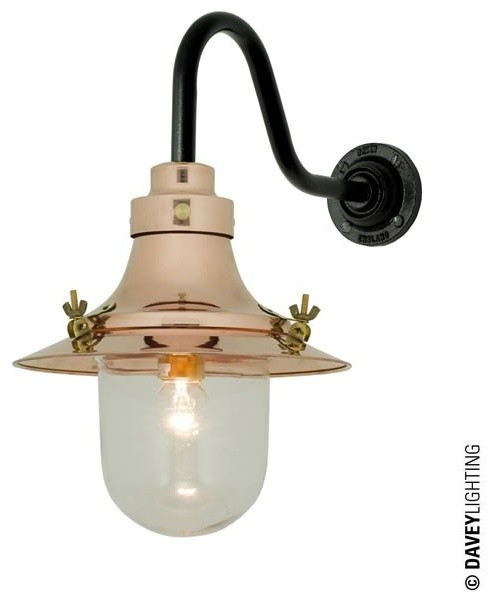 Small Industrial Wall Lights : Small Deck Light Wall 7125 Copper - Industrial - Wall Lights - by Peter Reid Lighting