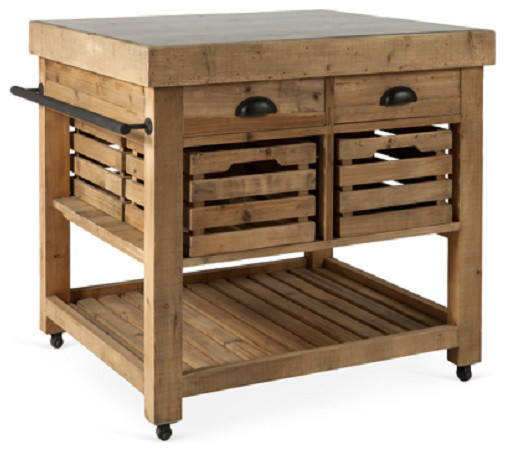 Marva Kitchen Island, Small  Rustic  Kitchen Islands And Kitchen Carts  by AutumnElle Design