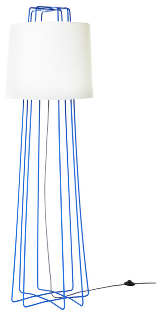 floor lamp bright blue and white modern floor lamps by blu dot. Black Bedroom Furniture Sets. Home Design Ideas