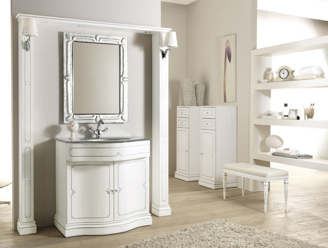 Italian Bathroom Vanity Opera Transitional Bathroom Vanity Units Sink Cabinets Other