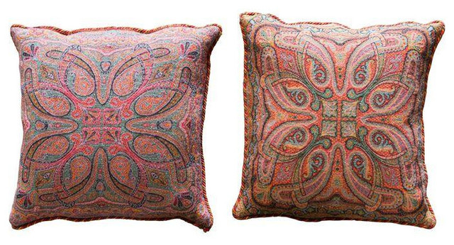 Decorative Pillows Retail : Italian Challis Pillows - $369 Est. Retail - $149 on Chairish.com