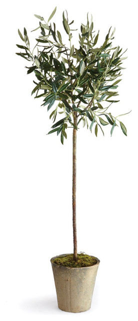 artificial olive tree in pot  46 u0026quot  - transitional - artificial plants and trees